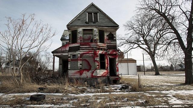 Derelict house, Detroit