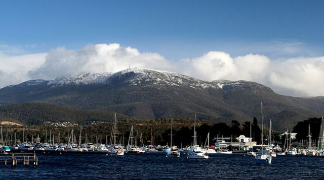 Mount Wellington, seen from Lindisfarne Bay